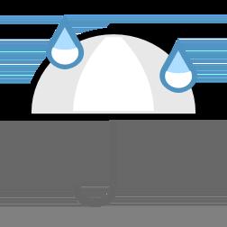 Možen je rahel dež zjutraj in popoldan